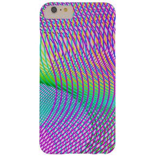 Het vector Retro Patroon van de Lijn van Krommen Barely There iPhone 6 Plus Hoesje