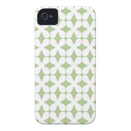 Het vector van het Patroon Green iPhone4S Geval va iPhone 4 Case-Mate Hoesje