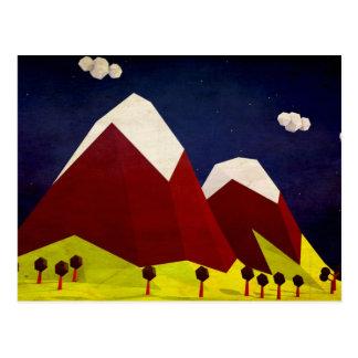 Het VectorArt. van de Berg van de veelhoek Briefkaart