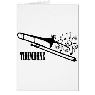 Het VectorOntwerp van de trombone Kaart