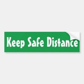 het veilige drijven houdt sticker van de afstands bumpersticker