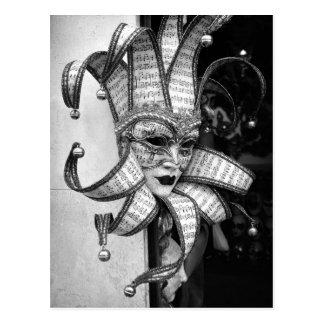 Het Venetiaanse Briefkaart van het Masker Carneval Wenskaart