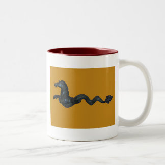 Het Venetiaanse Paard van het Glas Murano Tweekleurige Koffiemok