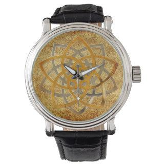 Het Venus bloeit Tweekleurige antiquiteit Horloge