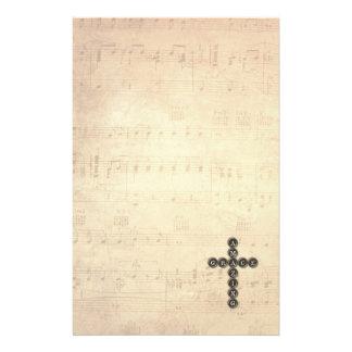 Het verbazende Kruis van de Gunst op het Vintage Briefpapier
