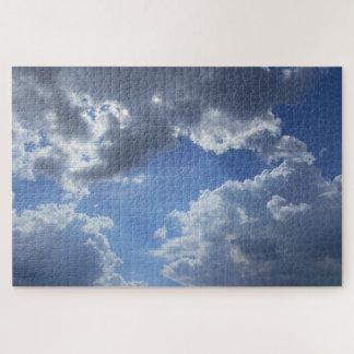 Het Verbergen van de zon achter de Wolken Legpuzzel