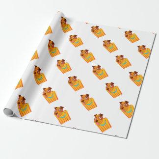Het Verbergen van het puppy in het Winkelen Zak Inpakpapier