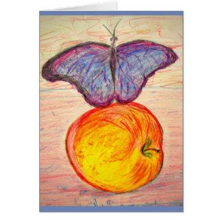 Het verblijfs vrije vlinder van de vlinder en van briefkaarten 0