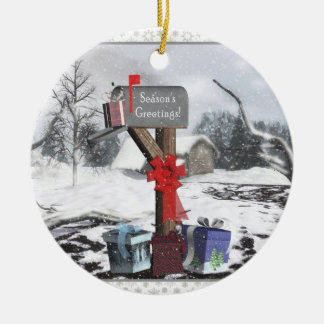 Het verfraaide Ornament van de Scène van de Winter