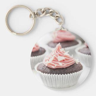 Het verfraaien van Cupcakes Basic Ronde Button Sleutelhanger