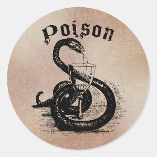 Het Vergift Gotisch Halloween van de slang Ronde Sticker