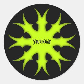 Het vergiftster van de fantasie ronde stickers
