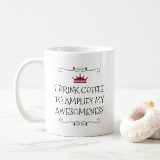 Het vergrote Grappige Citaat van de Koffie Koffiemok