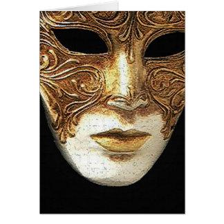 Het vergulde Wenskaart van het Masker