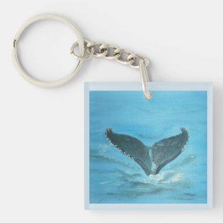 Het Verhaal Keychain van walvissen Sleutelhanger