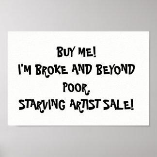 Het verhongerende Poster van de Kunstenaar