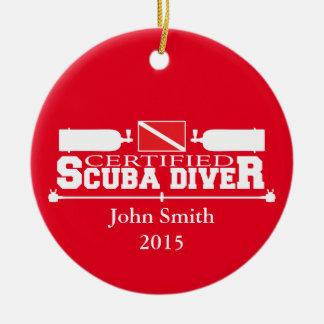 Het verklaarde Ornament van de Scuba-duiker