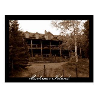 Het verlaten Eiland van Mackinac van het Hotel Briefkaart