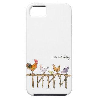 Het verloren eendje, de kippen en eendje tough iPhone 5 hoesje