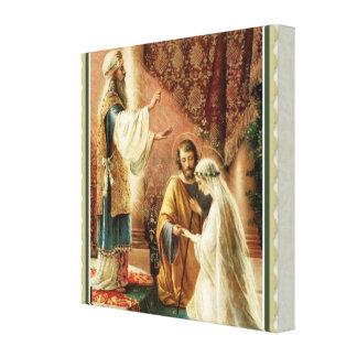 Het Verloving van het Huwelijk van de Priester van Stretched Canvas Afdruk