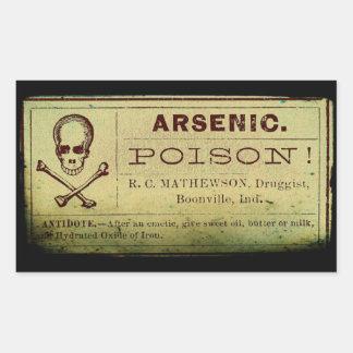 Het verontruste Etiket van het Arsenicum Rechthoek Stickers