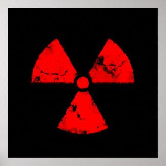Het verontruste Rode Poster van het Symbool van de