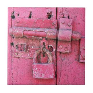 Het verontruste Vintage Slot schilderde Roze, Tegeltje