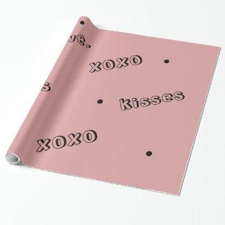 Het Verpakkende Document van de Valentijnsdag XOXO Cadeaupapier