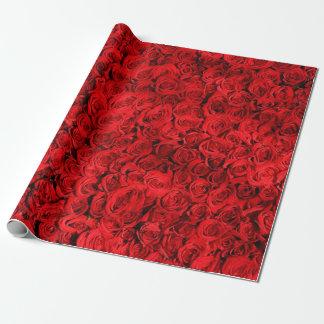 Het Verpakkende Document van Valentijn van rozen Inpakpapier