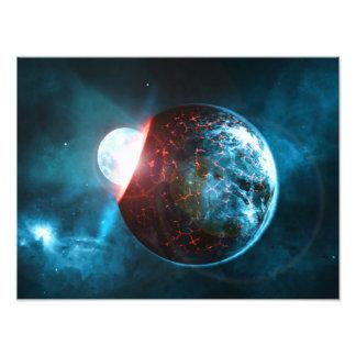 Het Verpletteren van de aarde en van de Maan de Foto Kunst