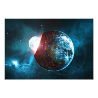 Het Verpletteren van de aarde en van de Maan de Fotoafdruk