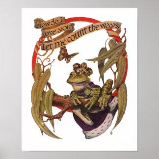 Het verrukte Poster van de Kikker