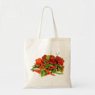 Het vers Geplukte Canvas tas van Spaanse pepers