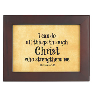 Het Vers van de bijbel: Ik kan alle dingen door Herinneringen Doosje