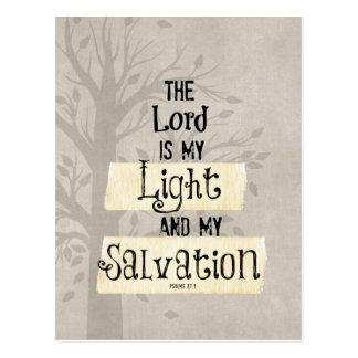 Het Vers van de bijbel: Lord is mijn Licht en mijn Briefkaart