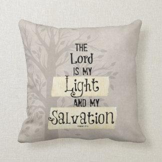 Het Vers van de bijbel: Lord is mijn Licht en mijn Sierkussen