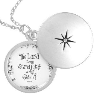 Het Vers van de bijbel: Lord is mijn Sterkte Zilver Vergulden Ketting