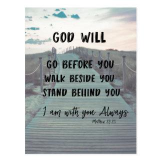 Het Vers van de Bijbel van de aanmoediging en van Briefkaart