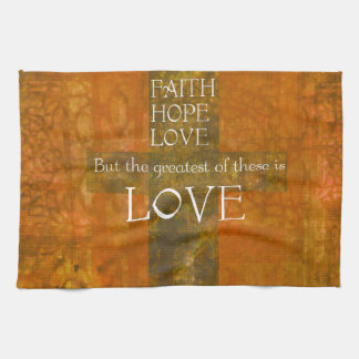 Het Vers van de Bijbel van de Liefde van de Hoop v Theedoek