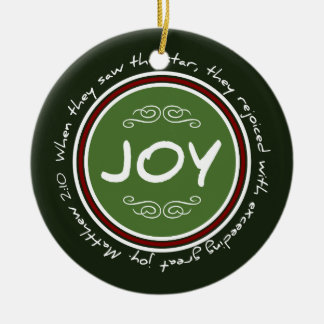 Het Vers van de Bijbel van de Vreugde van de Rond Keramisch Ornament