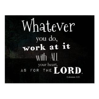 Het Vers van de Bijbel van het 3:23 van Briefkaart