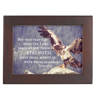 Het Vers van de bijbel: Vleugels als Eagles Herinneringen Doosje