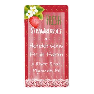 Het Verschepende Etiket van aardbeien