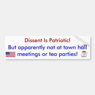 Het verschil van mening is de Patriottische Sticke Bumpersticker