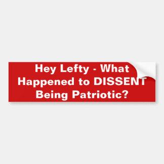Het verschil van mening is Patriottisch Bumpersticker