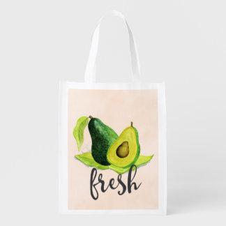 Het verse Groene Fruit van het Stilleven van de Herbruikbare Boodschappentas