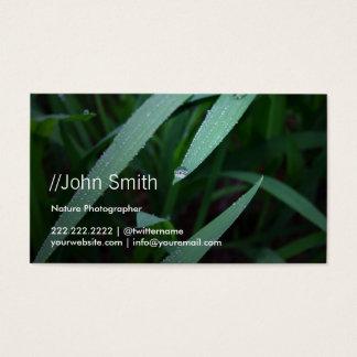 Het verse Groene Visitekaartje van de Fotograaf Visitekaartjes