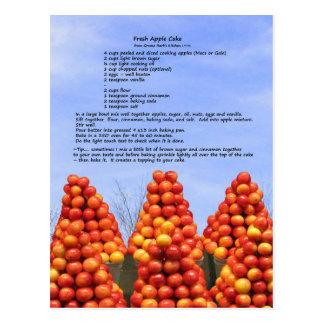 Het verse Recept van de Cake van Apple Briefkaart