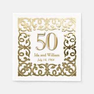 Het versierd Gouden Jubileum van het Lijst Papieren Servetten