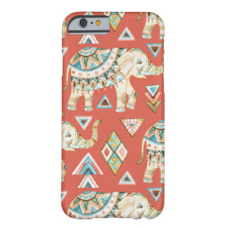 Het versierd Indische Patroon van de Olifant Barely There iPhone 6 Hoesje